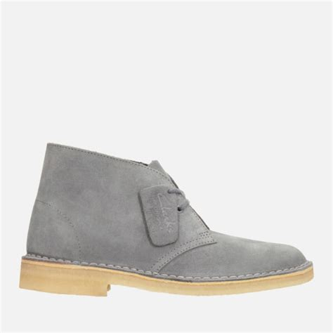 clarks originals s suede desert boots blue grey