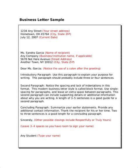 8 Professional Letter Format Sles Sle Templates Letter Template To Customers 2