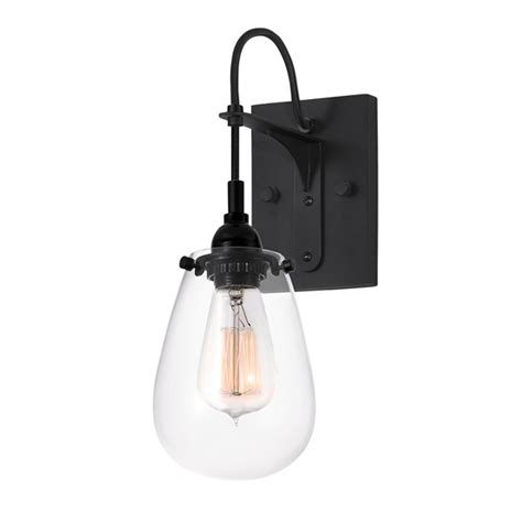 Clear Glass Wall Sconce chelsea one light satin black with clear glass wall sconce sonneman 1 light armed glas
