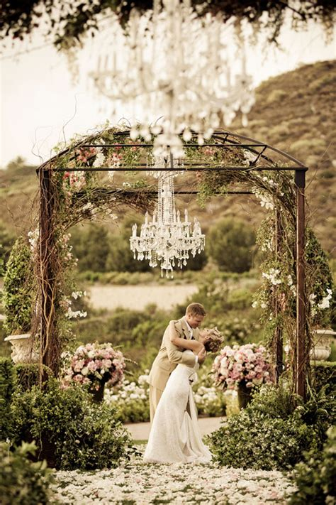 Wedding Outdoor by Outdoor Wedding Decorations Chandeliers Weddingelation