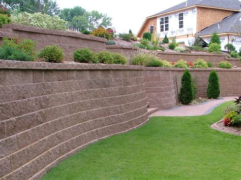 backyard wall erica s backyard on pinterest sloped backyard retaining