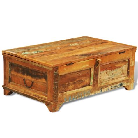 vintage style table ls reclaimed wood storage box coffee table vintage antique