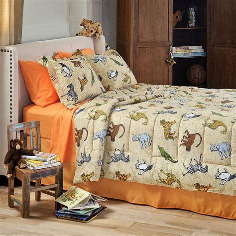 zoo animals bedding set queen 8pc bed in bag queen size