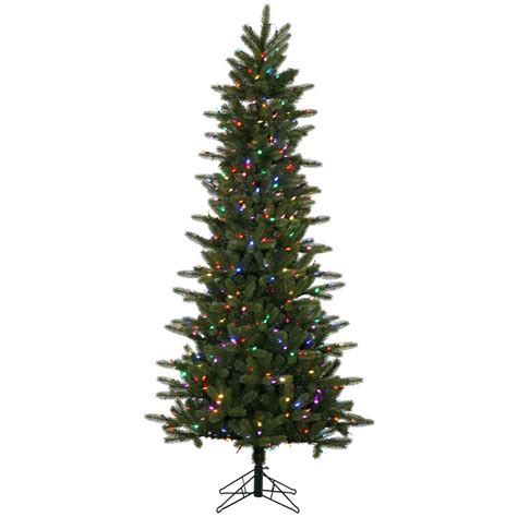 6 5 Foot Kennedy Fir Slim Christmas Tree Multi Color Led Multi Color Tree