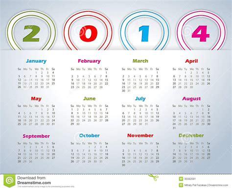 calendar ribbon design 2014 calendar with balloon shaped ribbons stock image