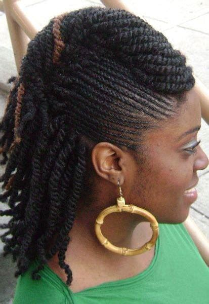 nice braids with kinky cornrows twists combi protective style black hair