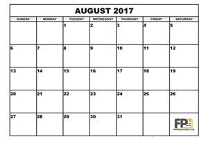 august 2017 calendar pdf calendar printable free