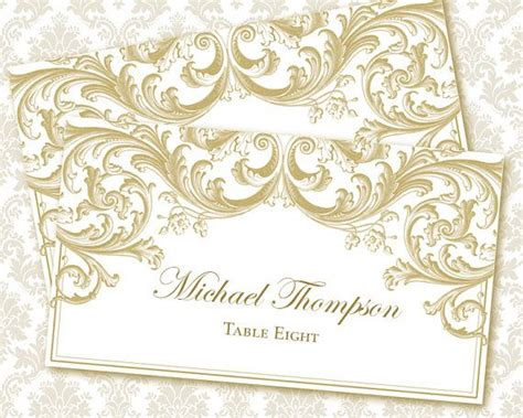 diy escord cards templates diy printable wedding place card template