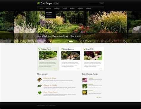 landscape drawing templates landscape design joomla template 32756