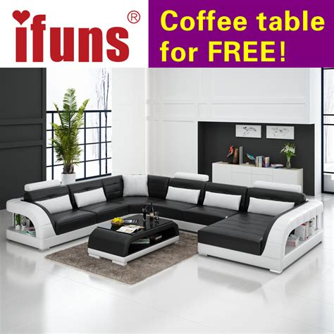u shaped couch living room furniture ifuns large u shaped sofa white cow leather couch living