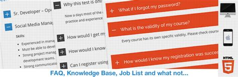 html5 responsive faq wordpress plugins