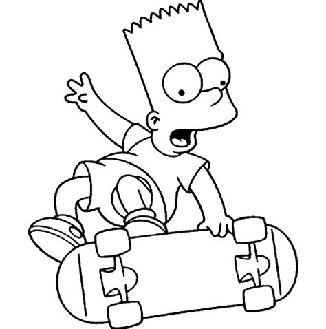 bart simpson colouring pages to print coloring part 2