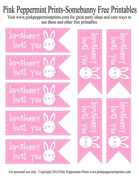 pink peppermint free easter printable and egg hunt party favor idea