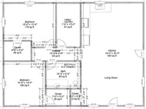 simple pole barn house floor plans