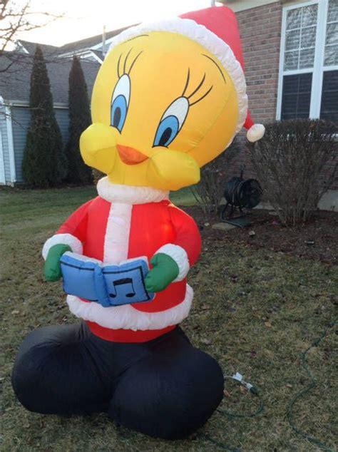gemmy airblown inflatable  santa tweety bird looney tunes decor tweety tweety bird quotes