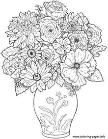 challenging coloring pages for adults flower difficult coloring pages printable