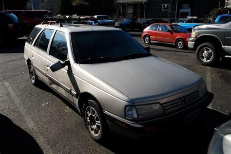 peugeot 405 wagon old parked cars 1990 peugeot 405 s wagon