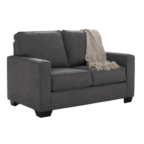 sectional sleeper sofa ashley ashley zeb twin sleeper sofa in charcoal 3590137