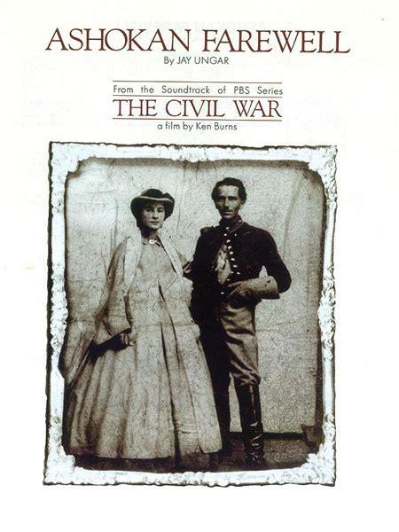 theme music ken burns civil war sheet music ashokan farewell from the civil war a film