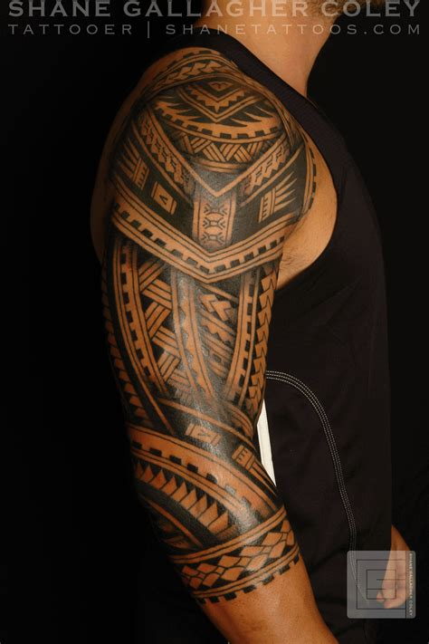 polynesian tribal tattoo shane tattoos polynesian sleeve tatau