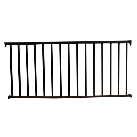 6 Foot Handrail Ez Handrail 6 Ft X 36 In Textured Black Aluminum