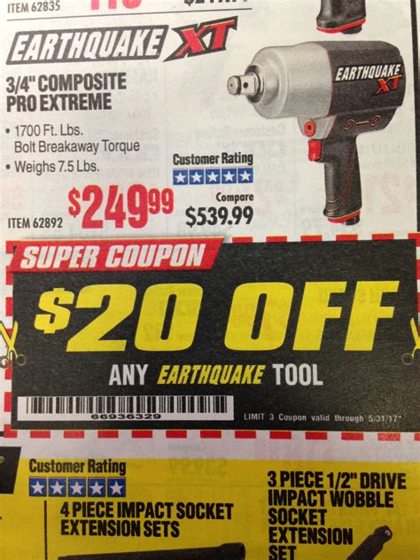 earthquake xt coupon harbor freight tools coupon database free coupons 25