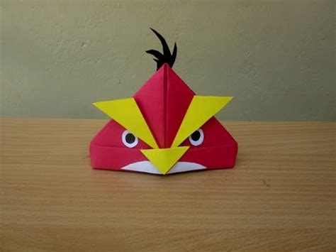 Angry Birds Origami - how to make a paper angry bird easy tutorials