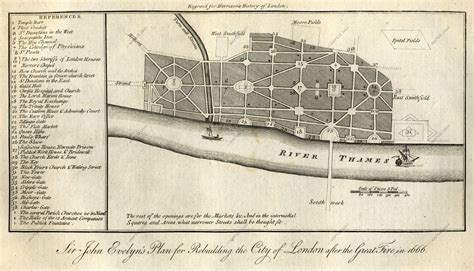 Evelyn S Plan For Rebuilding London After The Great Fire 1800 House Plans For Rebuilding