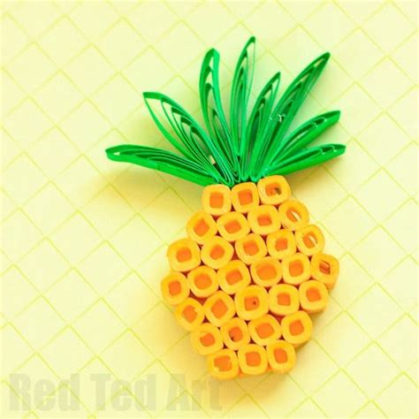 How To Make Your Own Quilling Paper - paper quilling pineapple brooch ted s