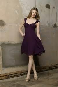 Short sweetheart neckline purple bridesmaid dresscherry marry cherry