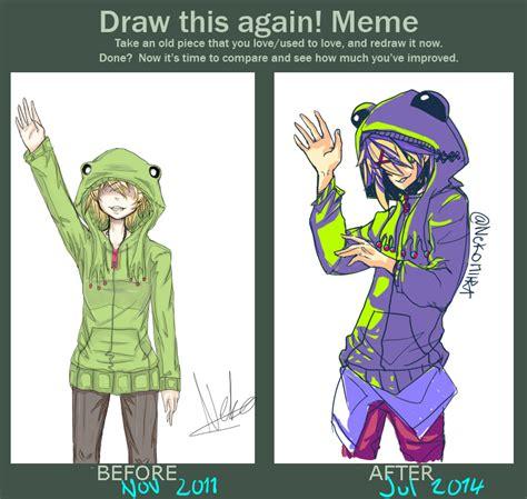 draw this again meme template draw this again meme by nekomiira on deviantart