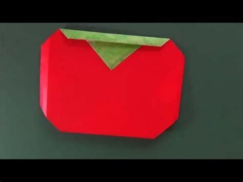 Origami Tomato - トマト 折り紙 quot tomato quot origami
