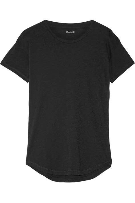 madewell whisper cotton jersey t shirt in black lyst