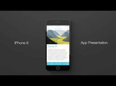 Iphone 6 Flat App Presentation Youtube App Presentation Template