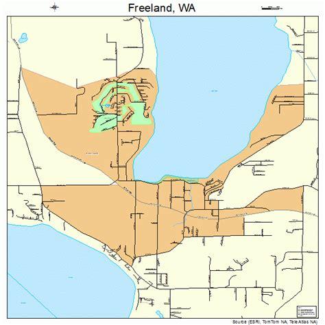wa map freeland washington map 5325510