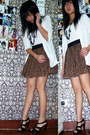 Charles Keith Boxyboxie Brown brown nyla skirts white cardigans white tops brown charles keith shoes bls quot leopard snow
