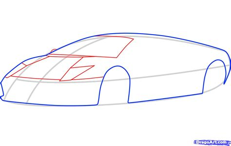 Lamborghini How To Draw How To Draw A Lamborghini Murcielago Lamborghini