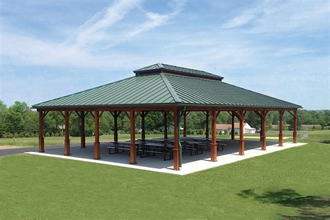 Metall Pavillon by Pavilion Roof Hip Roof Pavilion