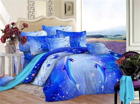 dolphin comforter set queen aliexpress com buy 3d blue ocean bedding set queen size