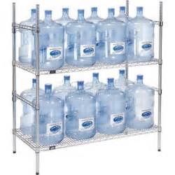 shelving food storage 5 gallon water bottle storage