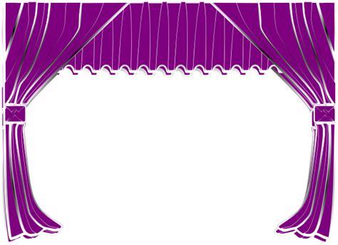 purple stage curtains purple curtains clip art at clker com vector clip art