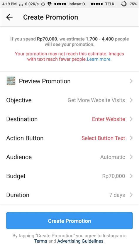 tutorial pembuatan instagram tutorial instagram ads menggunakan aplikasi instagram