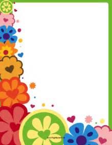 Hippie flower border page border