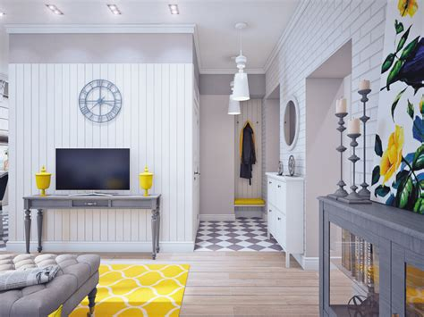 modern white home decor blue and yellow home decor