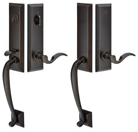Solid Brass Adams Style Double Door Entryway Set (oil