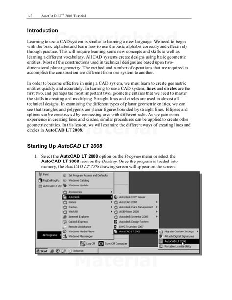 Introduction To Autocad 2008 autocad lt2008 tutorial