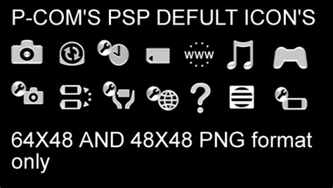 psp themes large icons white psp defult icons by p com on deviantart