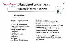 blanquette de veau recettes cookeo