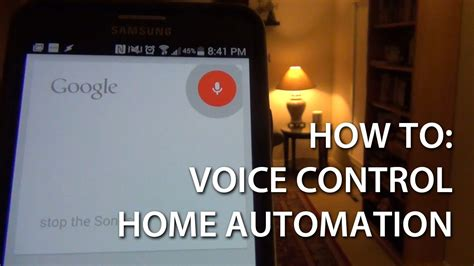 voice of home automation with android how to
