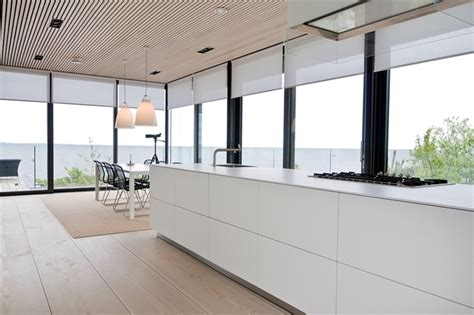 white in swedish nilsson villa modern beach house with black and white